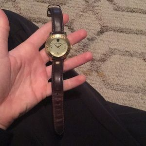 Lucky brand watch with leather band